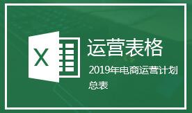 19年全年电商运营计划总表